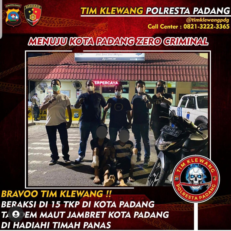 Berusaha kabur dari kejaran Polisi, dua orang pelaku jambret terpaksa ditembak